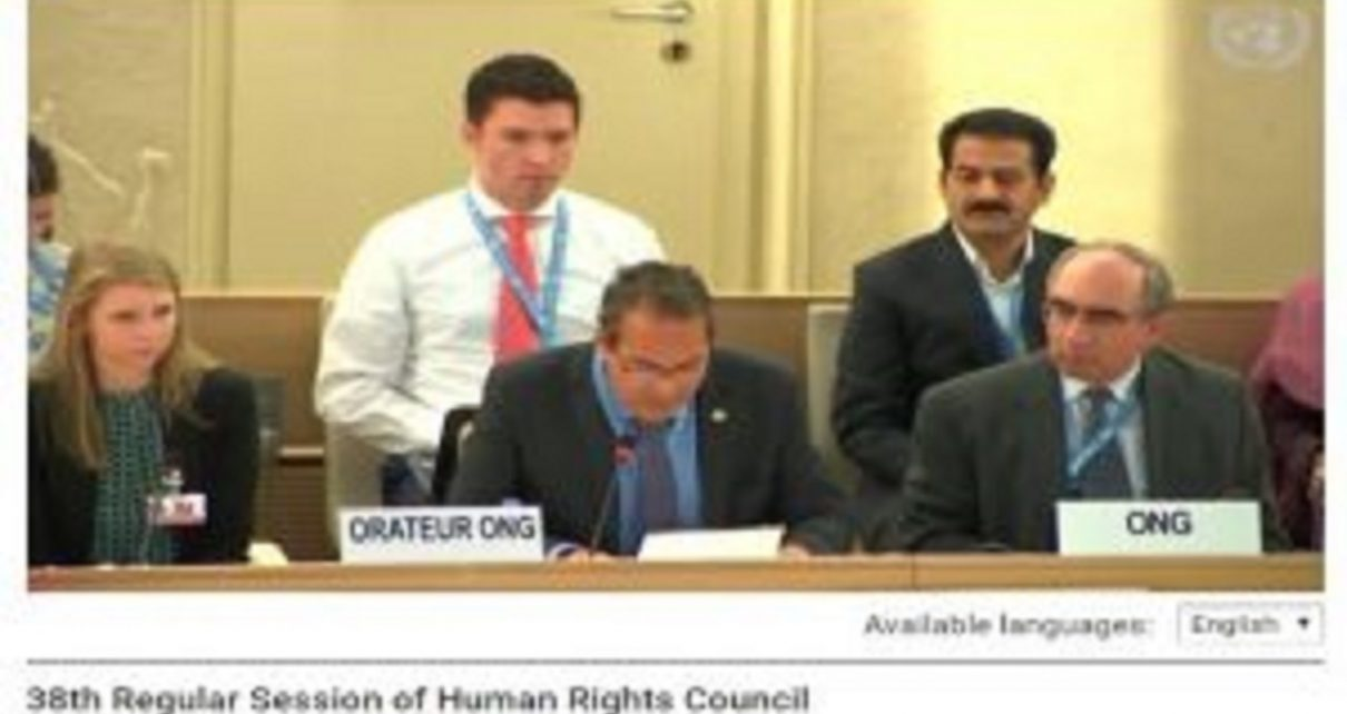 Join Oral Statement 38th Session Human Rights Council (UN Geneva) :Religious Freedom in China
