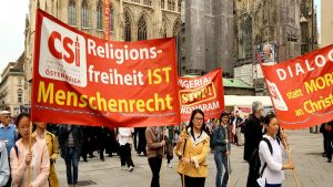 Silent March in Austria Appeals for 100 Million Persecuted Christians Worldwide