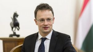 Hungary's foreign minister, Péter Szijjártó. (Photo from Internet)