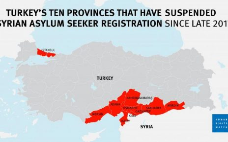 Turkey Stops Registering Syrian Asylum Seekers