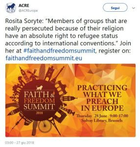 Bitter Winter's Rosita Šorytė Calls for Protection of Church of Almighty God Refugees in Brussels