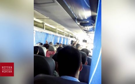 Believers are holding their gathering in secret on a bus.