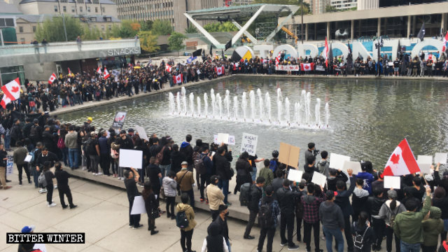 Supporters of Hong Kong's struggle against totalitarian tyranny held a march and rally in Toronto.