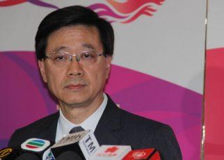 Secretary of Security John Lee Ka-Chiu in Hong Kong, China (Voice of the Voice of America reporter Shen Hua)